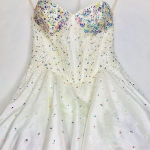 Fiesta rainbow tutu prom homecoming dress sz 0-2